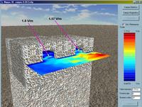 Valori di campo elettrico su un piano orizzontale a 11.15 m di altezza.