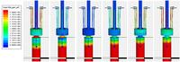 Studio delle correnti di ritorno all'innesto del cavo RF sul container che racchiude il sedimento da trattare.