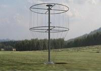 Rendering tridimensionale della singola antenna trasmittente.