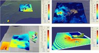 Per la modellizzazione orografica del terreno e degli edifici presenti nel PISQ sono stati utilizzati i seguenti file digitali: 18 file DTM dall'Istituto Geografico Militare; 48 file .dxf (2D e 3D) dal Servizio Informativo e Cartografico della Regione Sardegna.