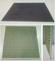 Thin narrowband absorber realized with a resistive patch FSS (thickness 2 mm) and wideband absorbers realized with a resistive square loop FSS (thickness 5 mm)