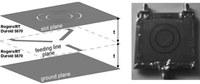 Layout e prototipo di un'antenna a microstriscia in doppia polarizzazione e con diagramma di irradiazione riconfigurabile.