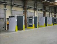 Portali adiacenti su cui sono poste le antenne per il reader, impegati per la gestione dei magazzini.